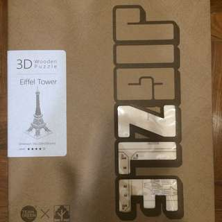 Jigzle Eiffel Tower 3D Wooden Puzzle