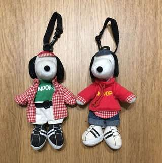 Snoopy 可掛毛公仔 (两隻)