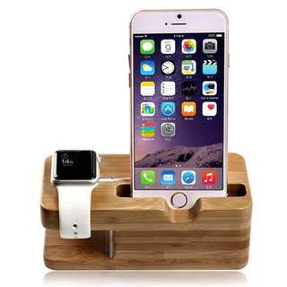 iPhone及Apple Watch 木製充電底座 Wooden Charging Dock