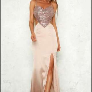 Hello Molly Sequin Formal Long Dress