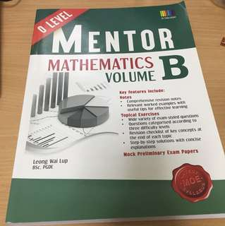 (Worth $16): O Level Mathematics B Assessment Book