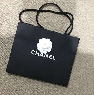 Chanel shopping bag with camellia