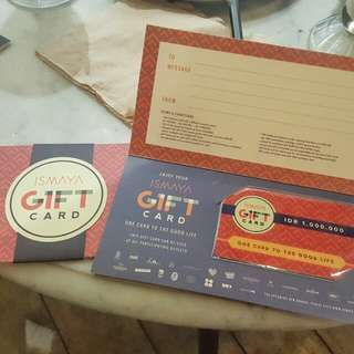 Gift Card Ismaya Group (Tenant & Event)