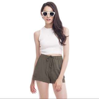 TCL Olive Green Shorts
