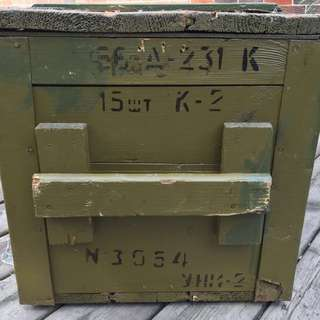 ONE LEFT Vintage / Antique Rifle Box. Can be used for coffee table!