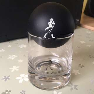 Johnnie Walker whisky glass and ice maker