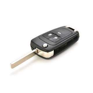 3 buttons remote folding key casing for Opel or Chevrolet