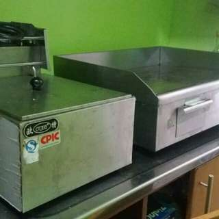Grill and french fries fryer (Rush sale)