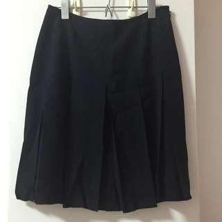 🚚 日式學院高腰黑色百褶短裙