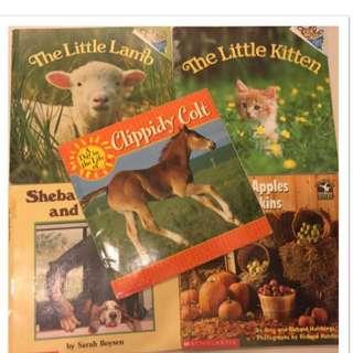 英文童話故事繪畫書-1組5本