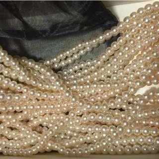 16 glass beads 玻璃珠 necklaces