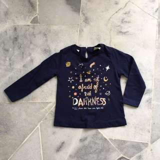 Zara baby girl long sleeve t-shirt size 12/18months
