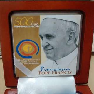 Pope Francis Papal Coin Commemorative 500 Piso Donation Fundraising Buy For A Cause