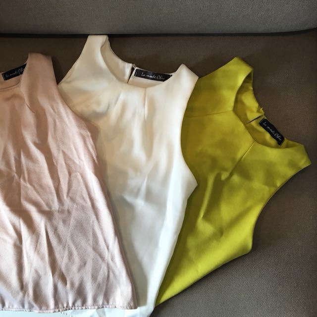 c4bb1e54c0b791 3 Brand New sleeveless work tops