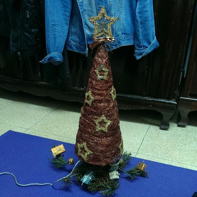二手@星星聖誕樹裝飾夜燈