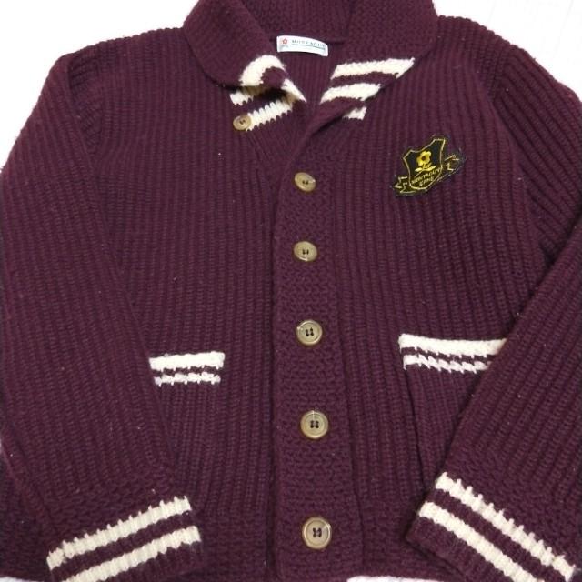 夢特嬌紫色學院風毛衣外套