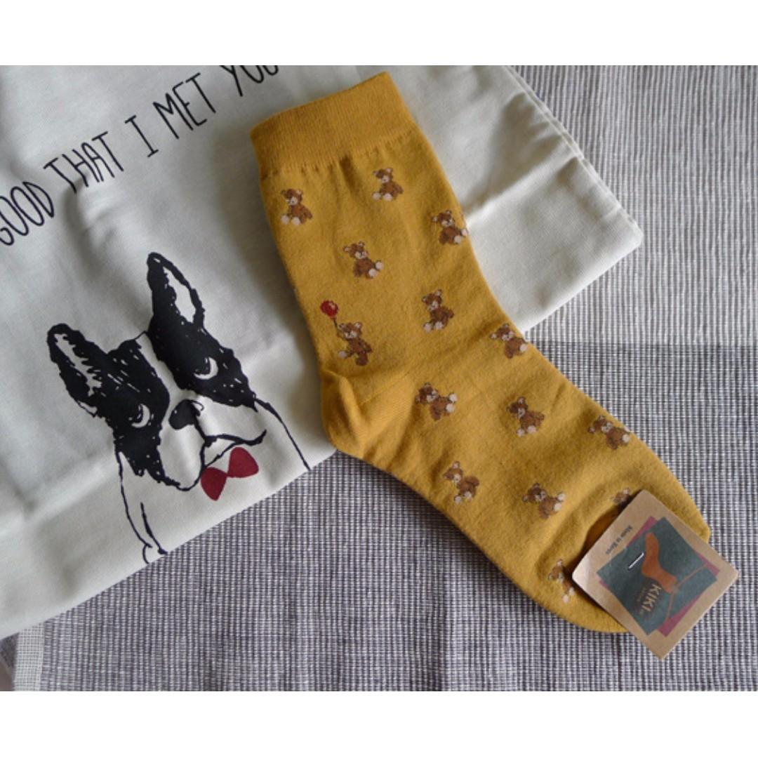 全新韓國小熊襪