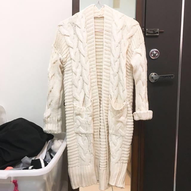 厚針織外套