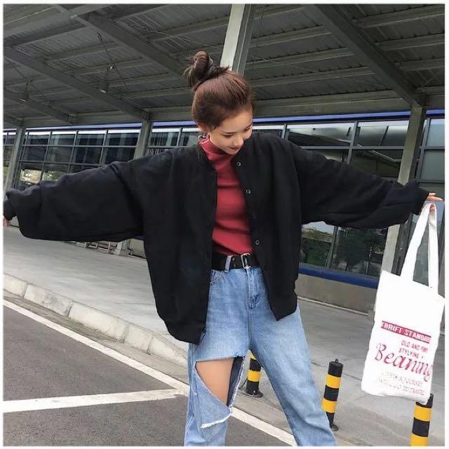 韓版寬鬆燈籠袖外套