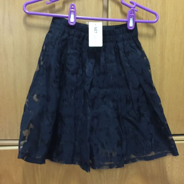 品牌雪紡褶短裙