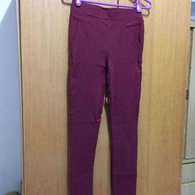 彈性棉質窄管牛仔褲
