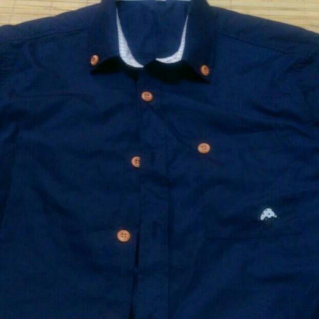 短袖襯衫 深藍色 九成新