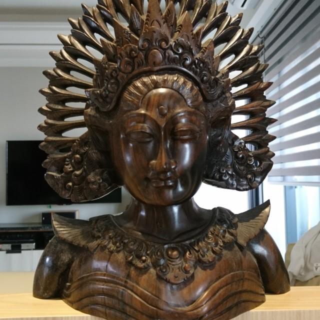 印尼黑檀木雕像 (泰國購買)