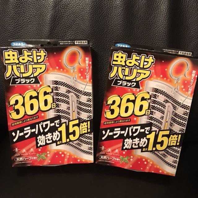 日本購回 地表最強 防蚊掛片 長效 366天 1.5倍強效