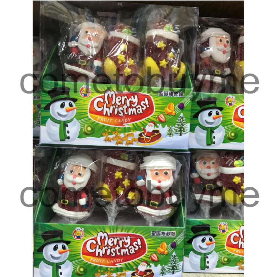 馬來西亞 聖誕節棒軟糖 聖誕老人 麋鹿 雪人 聖誕襪子