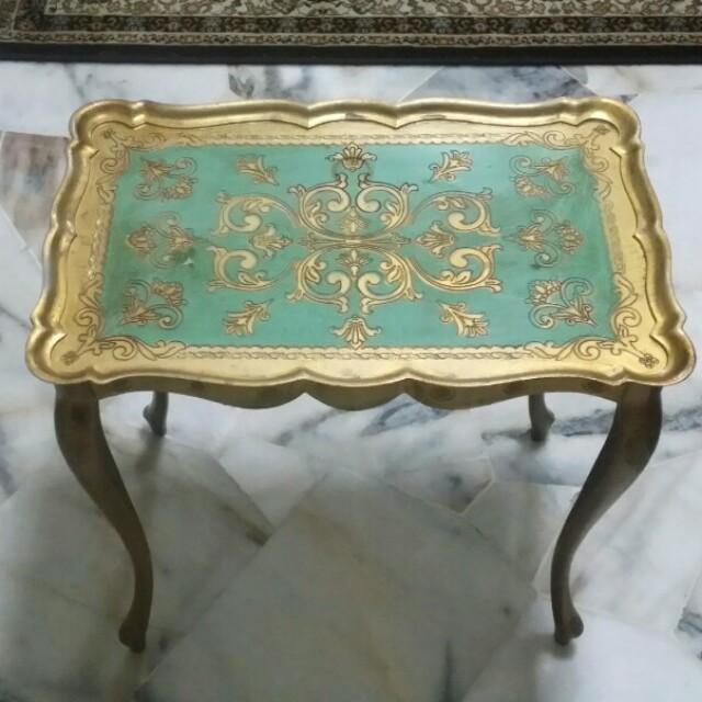 💥 All-Must-Go : Vintage Italian Florentine Side Table🔥