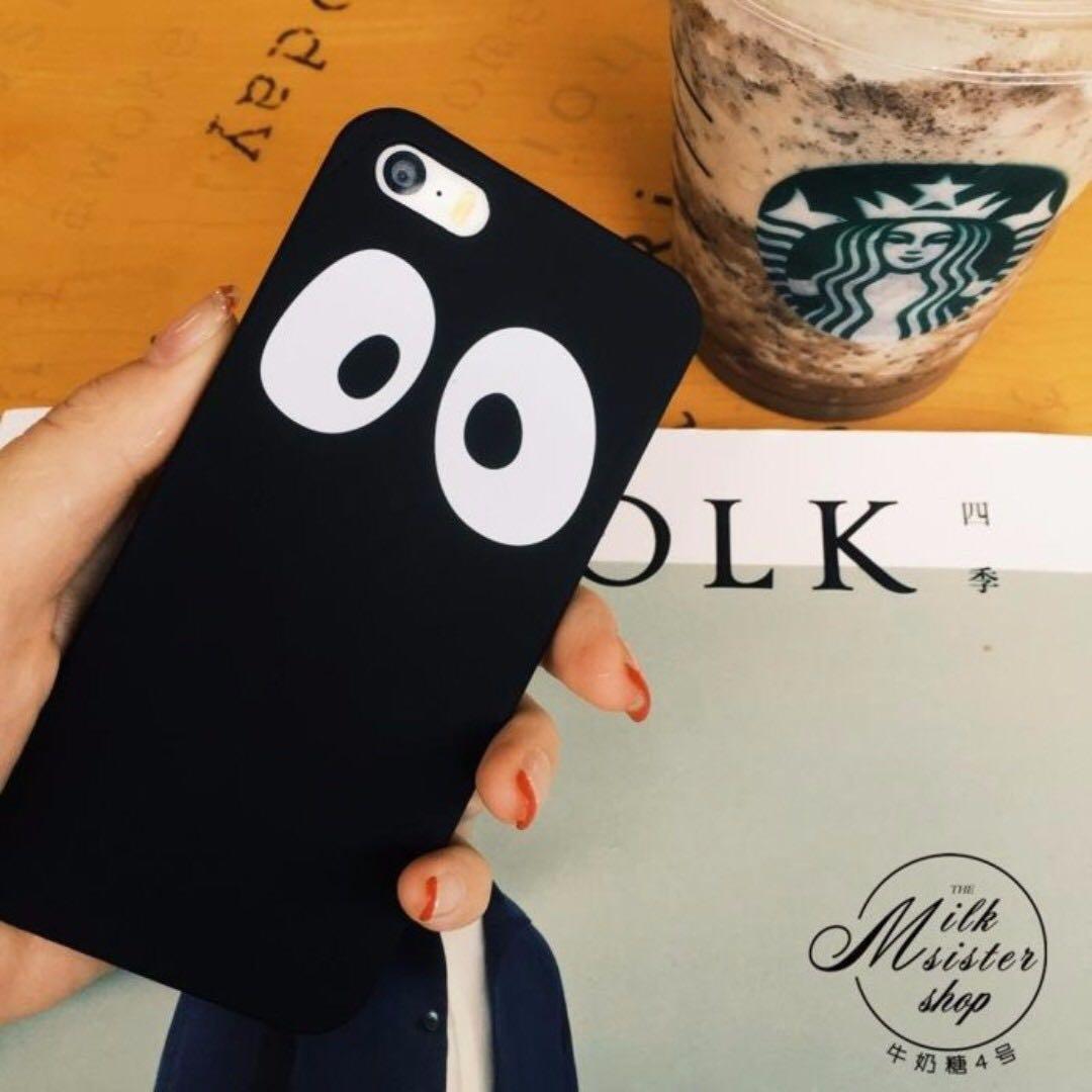 大眼睛黑色 I6 手機殼