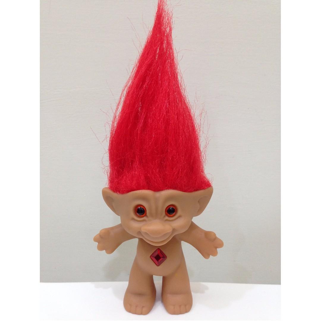 幸運小子 (裸體紅髮娃)醜娃、巨魔娃娃、醜妞、Troll Doll、魔髮精靈