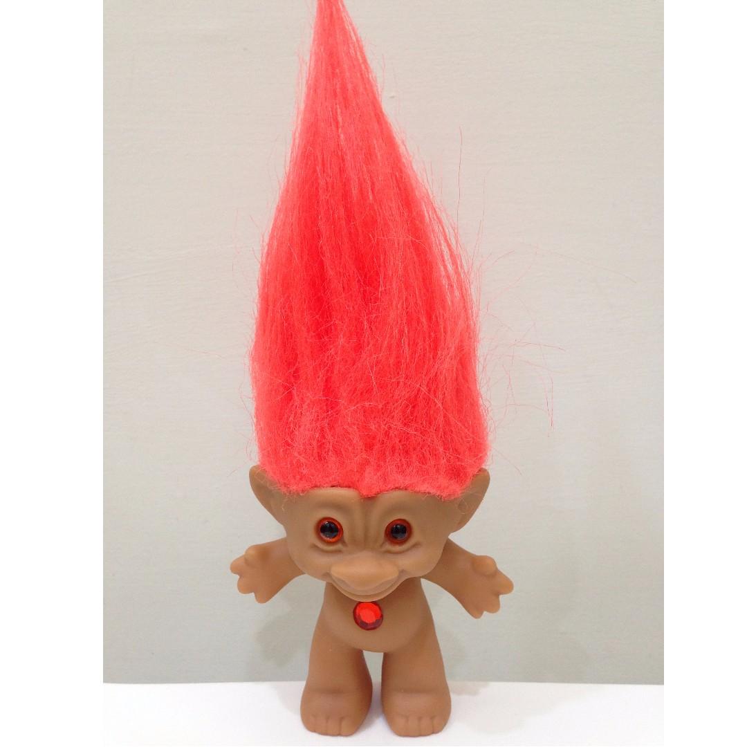 幸運小子 (裸體橘髮娃)醜娃、巨魔娃娃、醜妞、Troll Doll、魔髮精靈