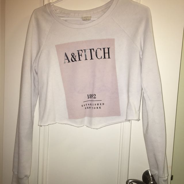 Abercombie & Fitch Crop White Sweater