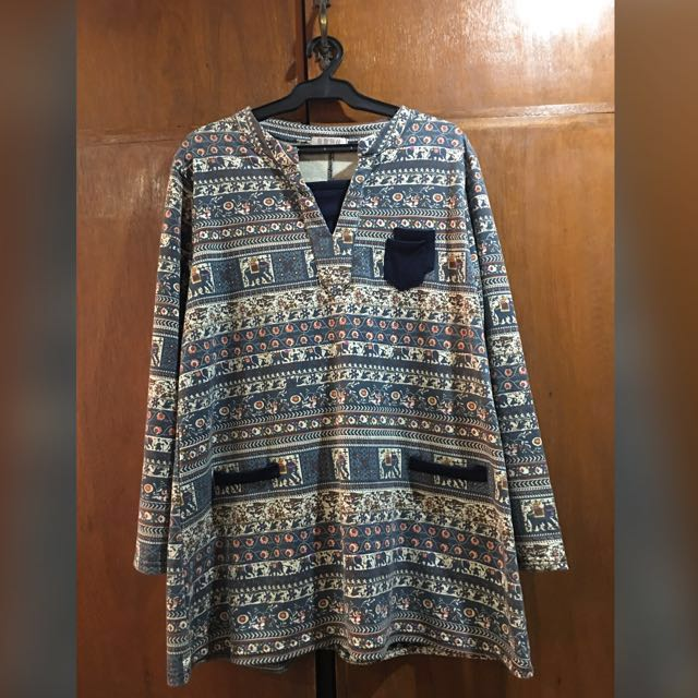 Abstract Korean Pullover (Plus Size)