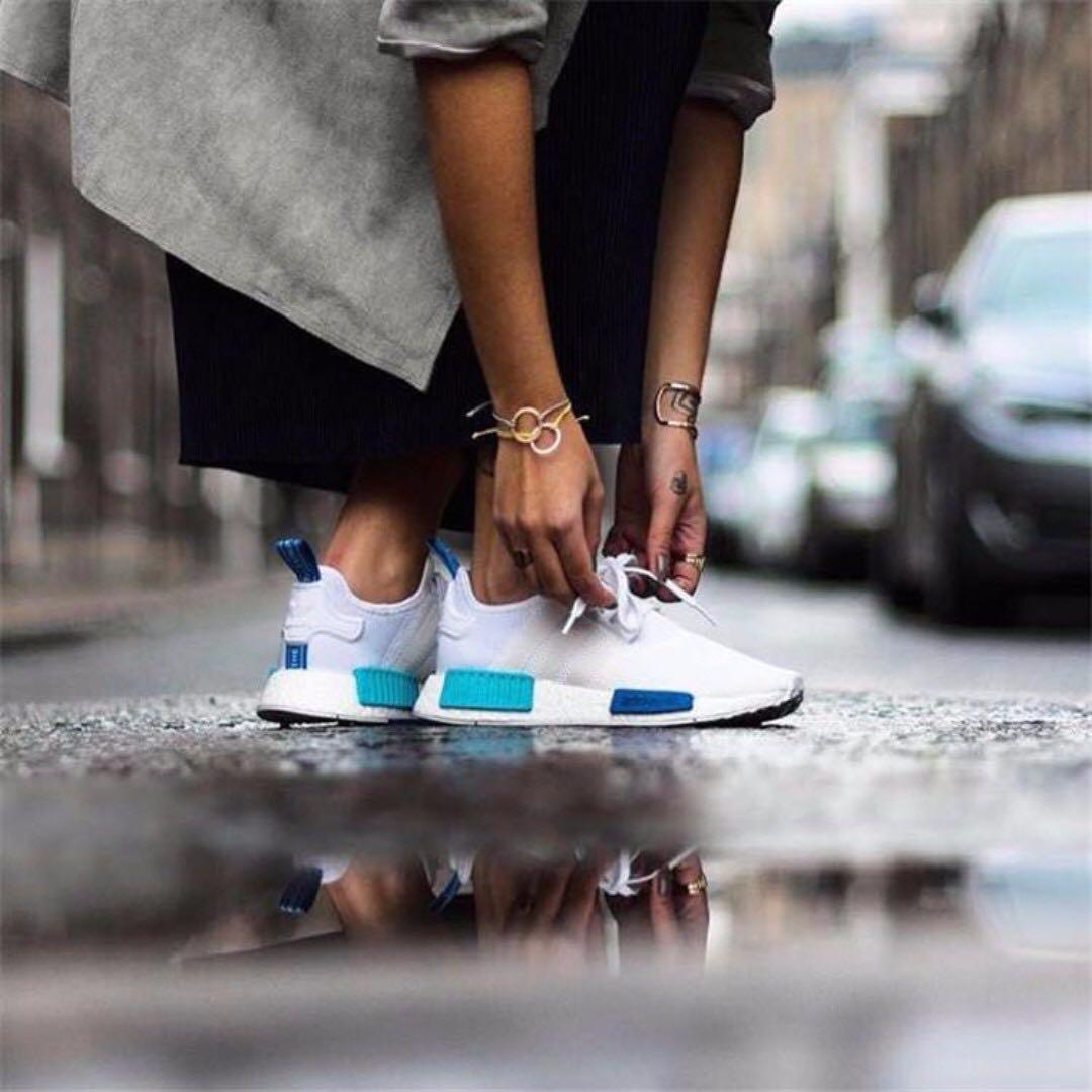 Adidas NMD R1 W  Ftwr White Blue Glow  f99d8a36b