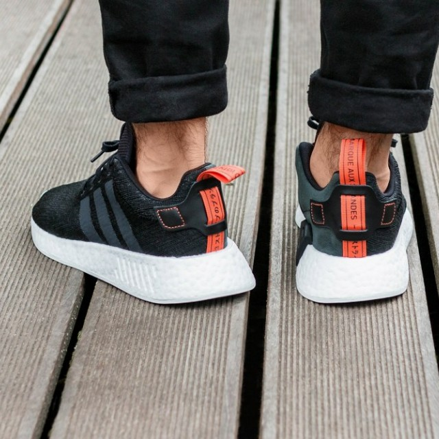 official photos 3a1c7 f10d6 Adidas NMD R2 Future Harvest Black Orange, Mens Fashion, Footwear on  Carousell