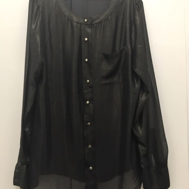 Ann Taylor Toffee colored long sleeved blouse