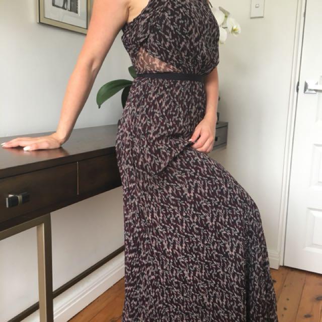 Armani pleated floor length dress