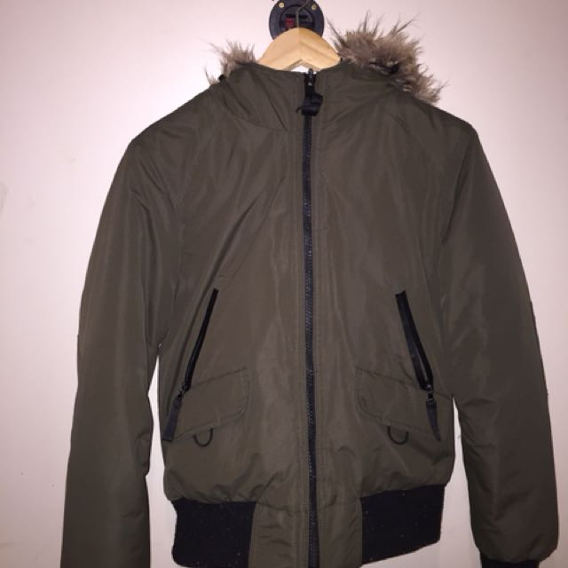 Army Green Canadian Goose Look A Like Jacket