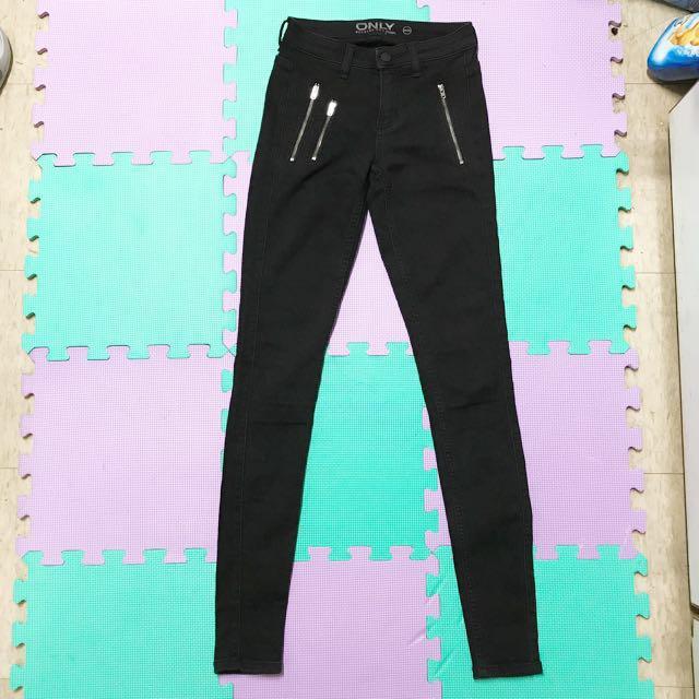 ASOS 黑色特級彈性緊身長褲XS uk6