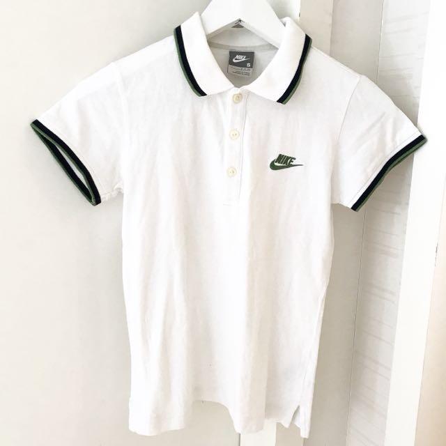 Authentic Nike White polo T-shirt