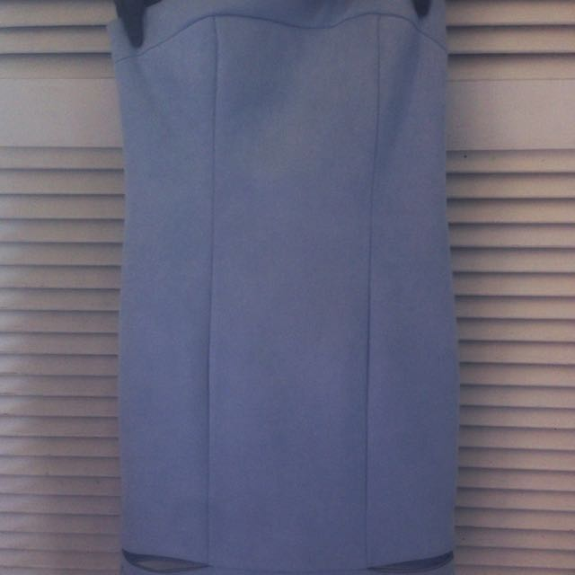 B xrunway Sky blue gorgeous strapless dress