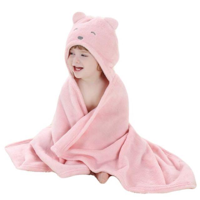 Baby hoodie blanket big soft