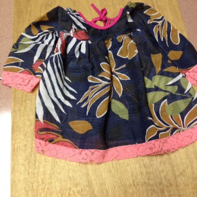 Baju bunga renda