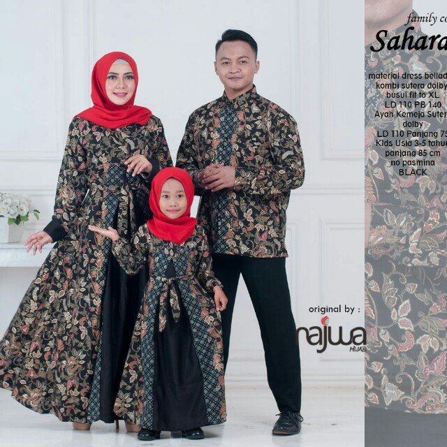 Baju Couple Batik Keluarga Original By Ori Najwa Olshop Fashion