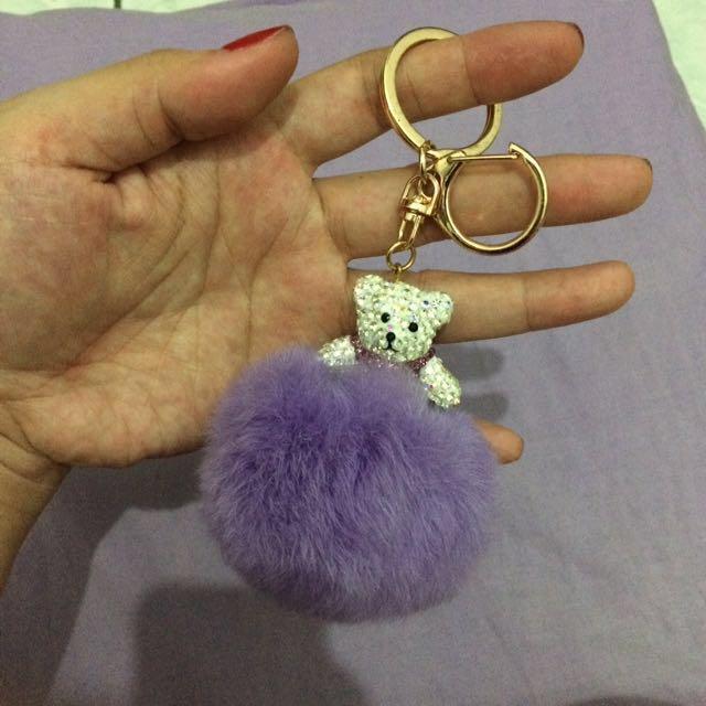 Beachkin fur keychain