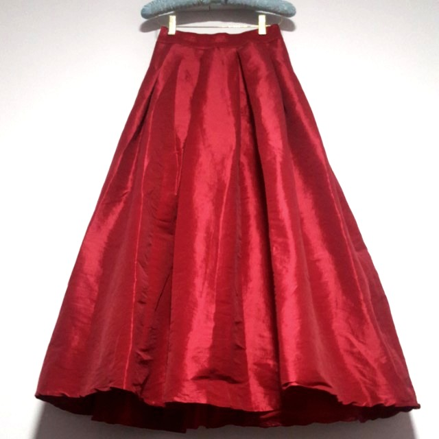 Beautiful Deep Red Ball Gown Skirt, Women\'s Fashion, Clothes ...