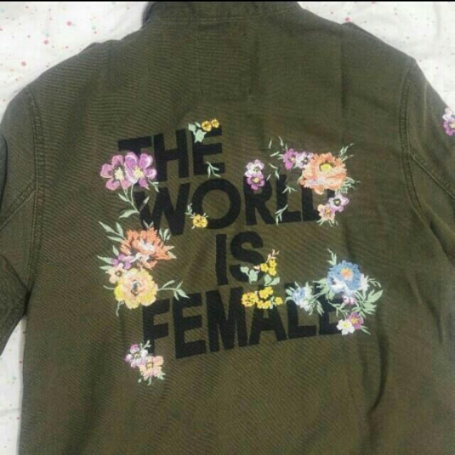 Bershka flower army parka