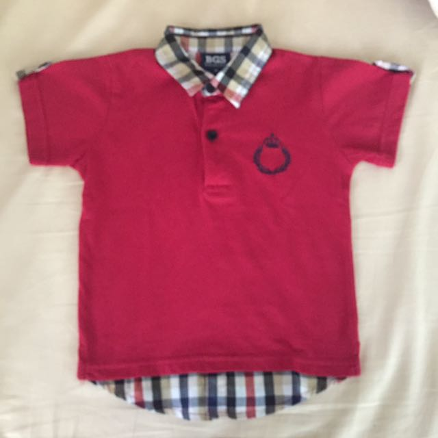 BGS red polo